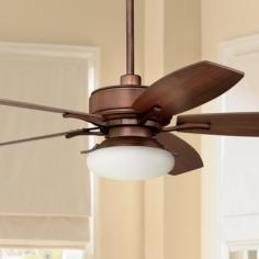 "52"" Bellasario Oil-Brushed Bronze Ceiling Fan"