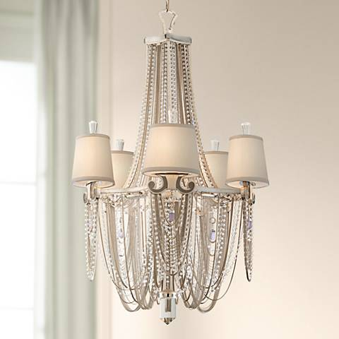 "Corbett Flirt Crystal and Chain 26"" Wide Pendant Chandelier"