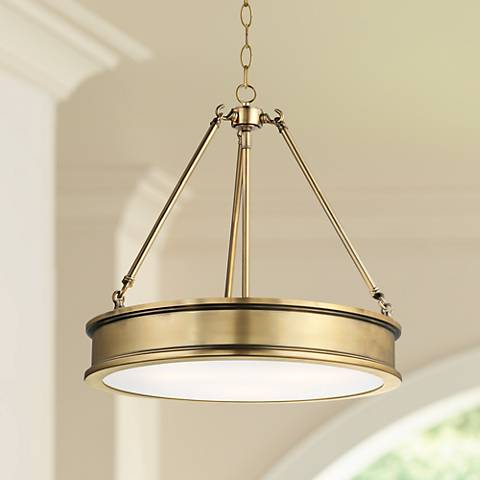 "Harbour Point 19"" Wide Liberty Gold Pendant Light"