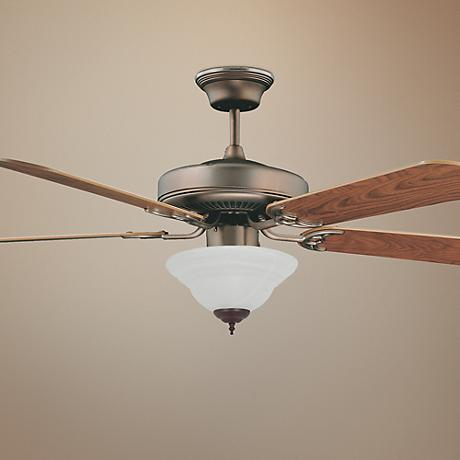 "52"" Concord Decorama Cherry Bronze Ceiling Fan with Light"