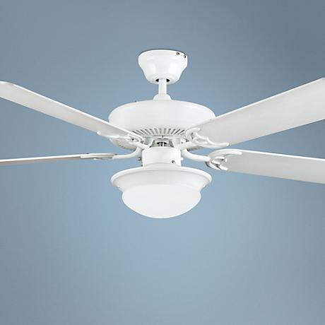 "52"" Heritage Fusion White Ceiling Fan with Light"