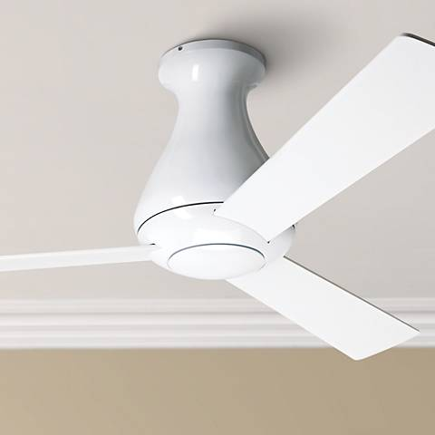 "42"" Modern Fan Altus Hugger Gloss White Ceiling Fan"