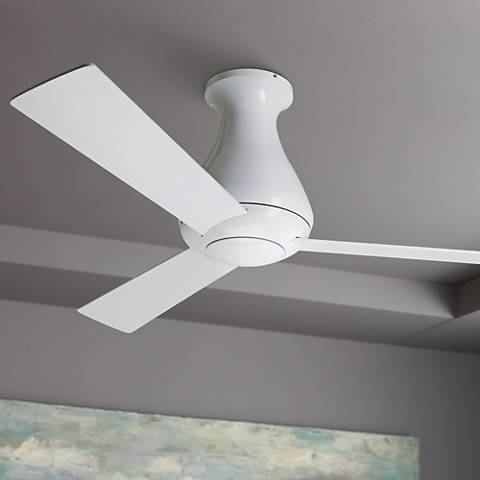 "52"" Modern Fan Altus Hugger Gloss White Ceiling Fan"
