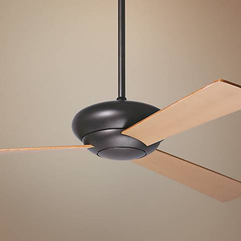 "52"" Period Arts Altus Maple Blades Dark Bronze Ceiling Fan"