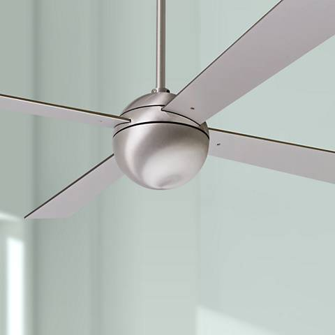 "42"" Modern Fan Ball Brushed Aluminum Ceiling Fan"