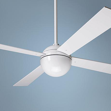 "42"" Modern Fan Ball Gloss White Ceiling Fan"