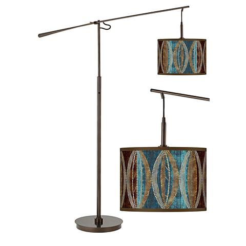 Stacy Garcia Pearl Leaf Peacock Balance Arm Floor Lamp