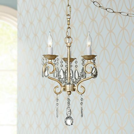 "Conti Champagne Gold 12"" Wide Chandelier"