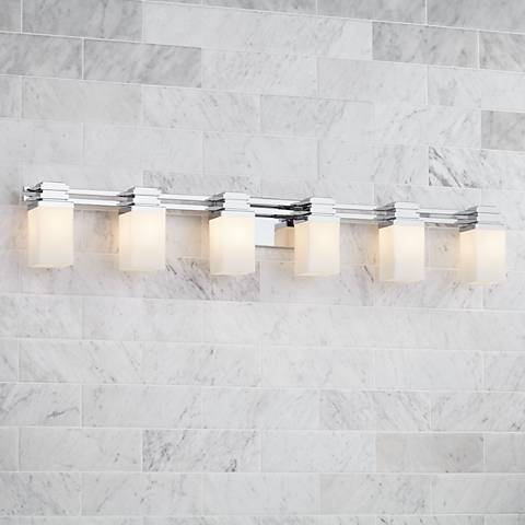 "Possini Euro Design® Bennett 48 1/2"" Wide Chrome Bath Light"