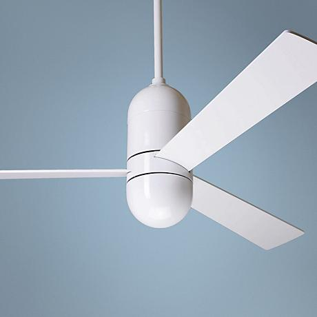 "52"" Modern Fan Cirrus Ceiling Fan in Gloss White"