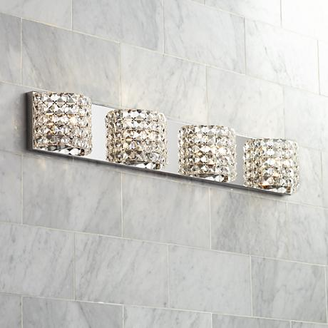 "Cesenna 4-Light 35 1/2"" Wide Crystal Bath Light"