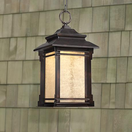 Hickory Point 19 1 4 Quot High Hanging Outdoor Led Light