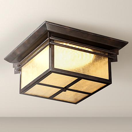 "Hickory Point 15"" Wide LED Outdoor Ceiling Light"