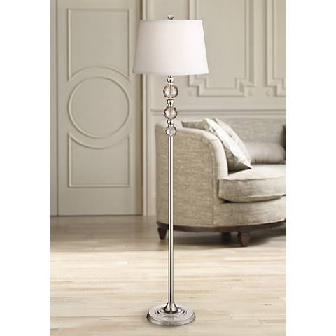 Vienna Full Spectrum Glimmer Crystal Orb Floor Lamp