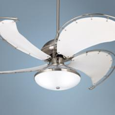 "52"" Aerial™ Brushed Nickel Industrial Ceiling Fan"