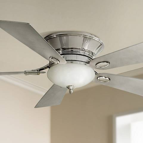 "52"" Minka Delano II Polished Nickel Hugger Ceiling Fan"