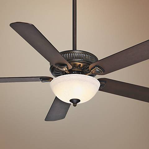 "60"" Casablanca Ainsworth Champagne Glass Light Ceiling Fan"