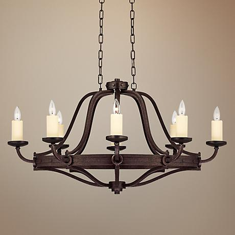 "Savoy House Elba 27 1/2"" Wide Oiled Copper Chandelier"