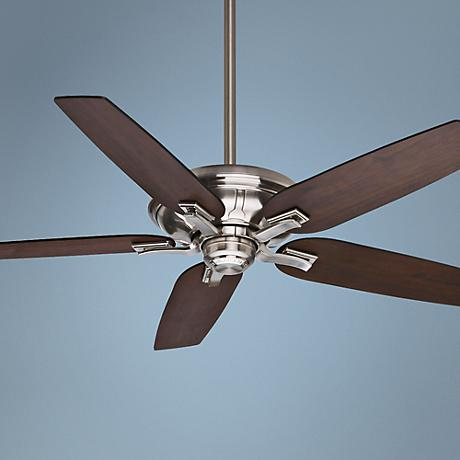 "52"" Casablanca Brescia Wall Control Nickel Ceiling Fan"