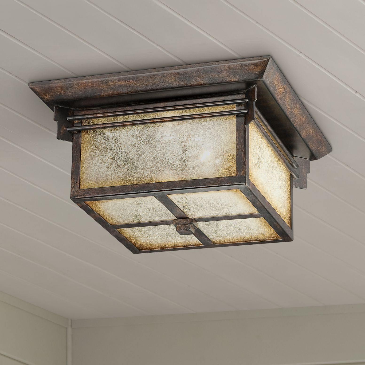 Franklin Iron Works™ Hickory Point Flushmount Light