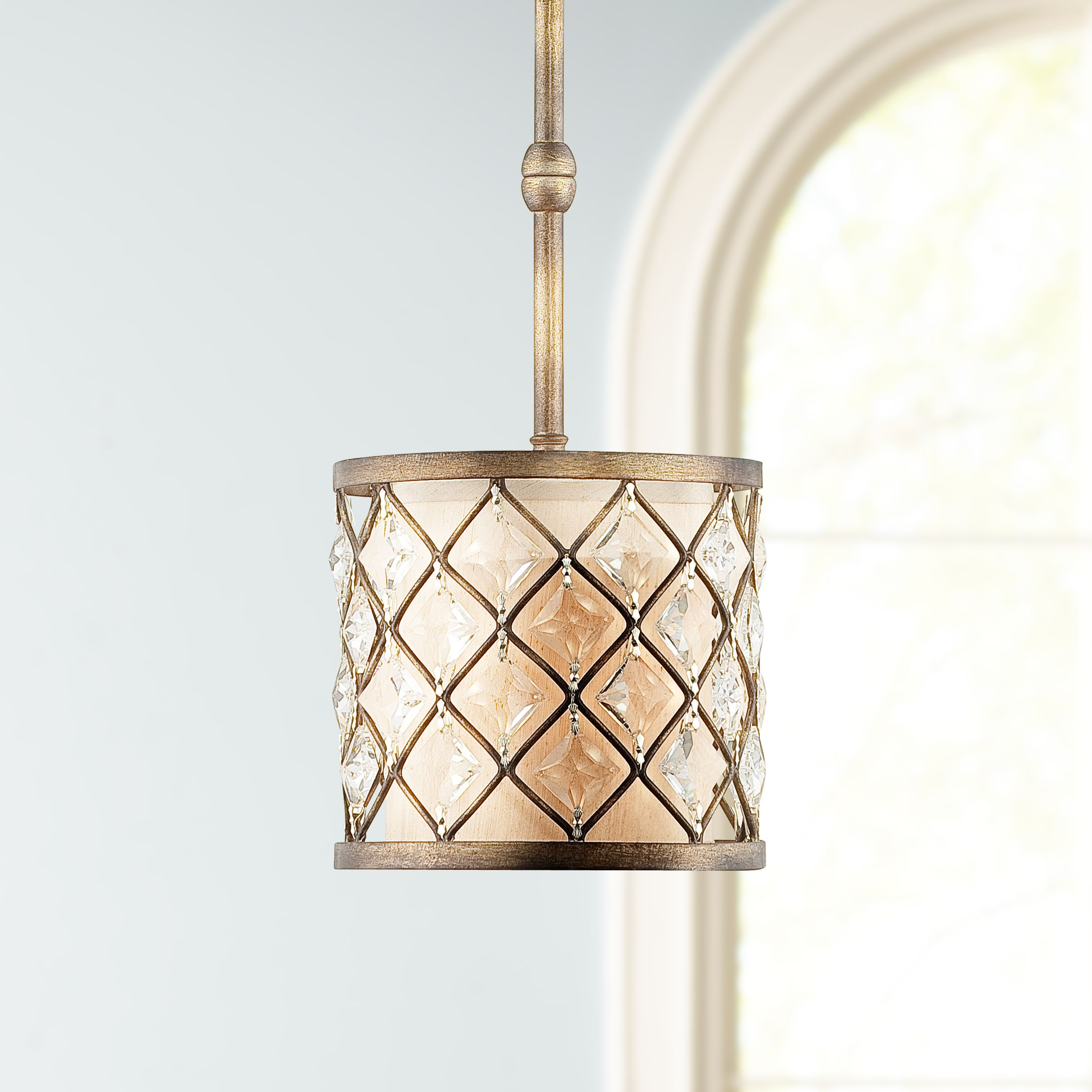 jeweled golden bronze mini pendant light - Bronze Pendant Light