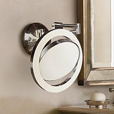 Wall Mounted Lighted Vanity Mirror wall mounted makeup mirrors - magnifying, lighted & more | lamps plus