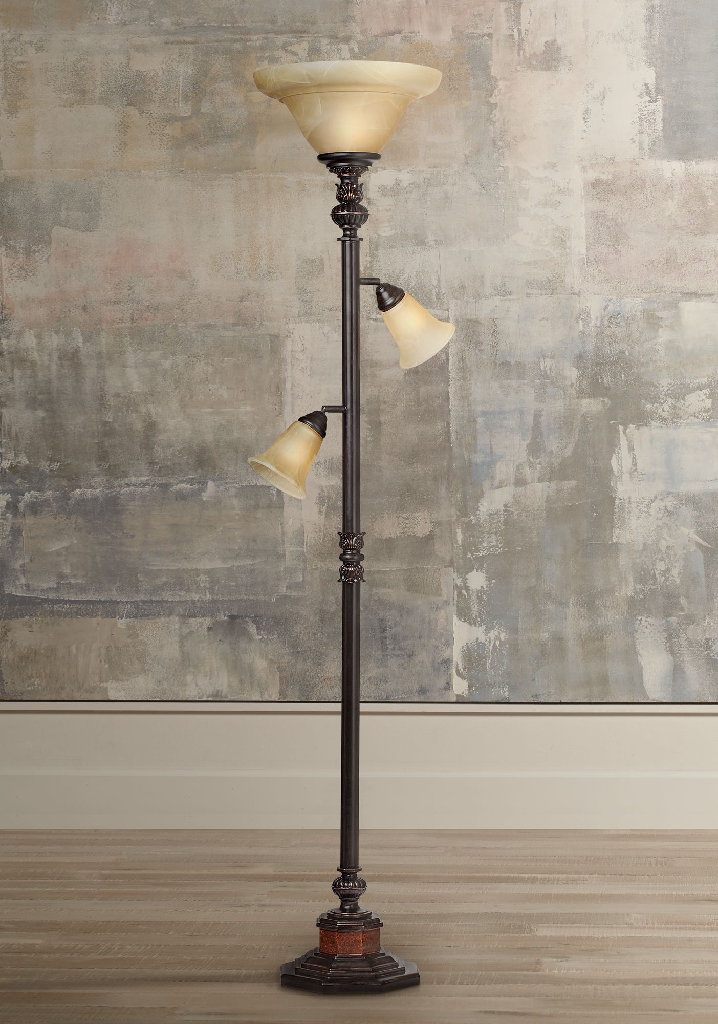 kathy ireland sonnett 3light torchiere floor lamp