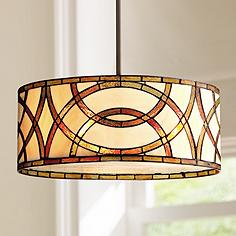 Art Glass Circles 20W Tiffany Style Pendant Chandelier