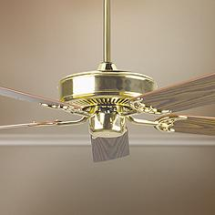 brass - antique brass, ceiling fan without light kit, ceiling fans