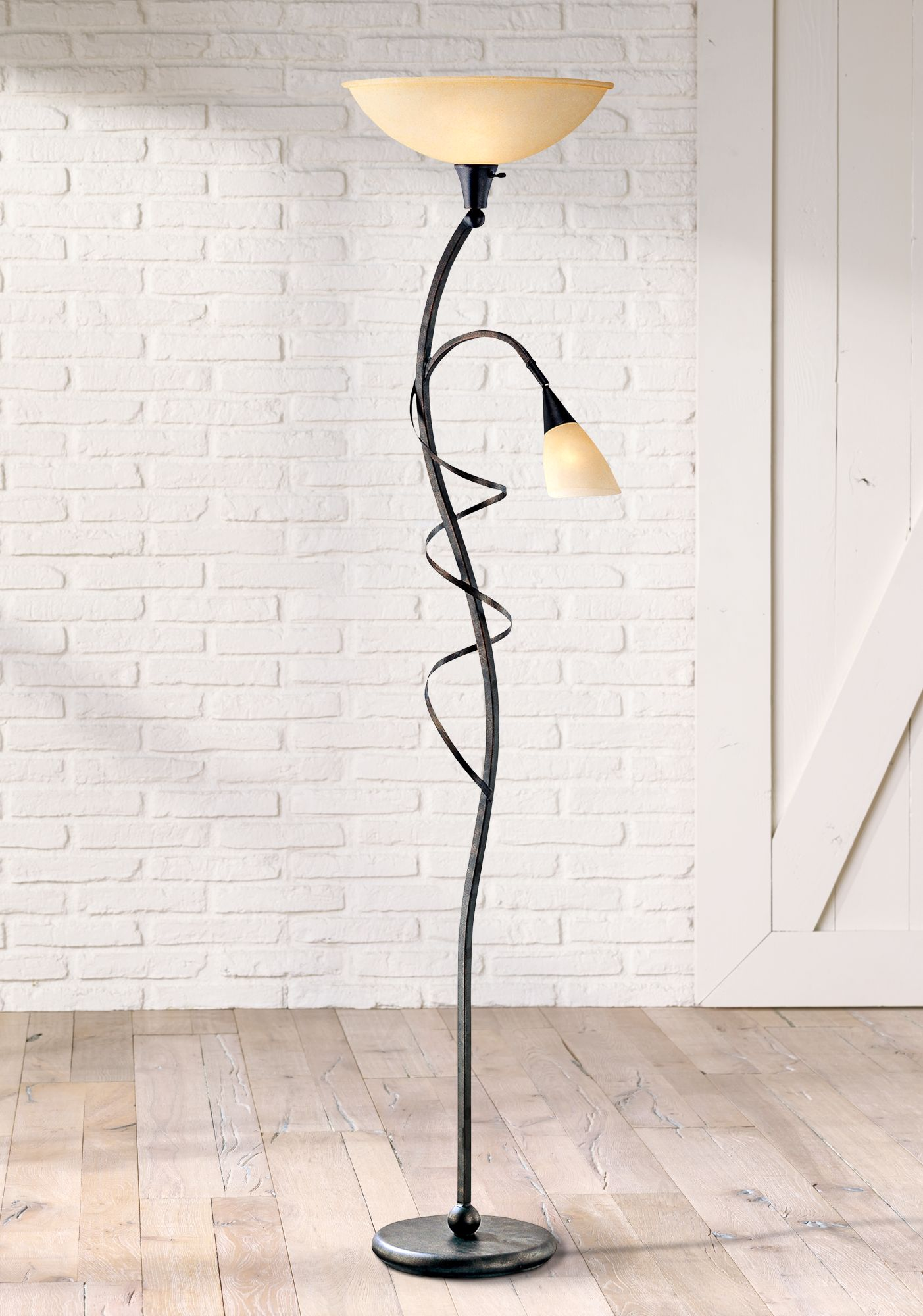 Transitional Torchiere Floor Lamps | Lamps Plus