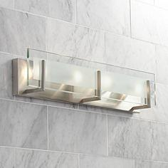 Bathroom Vanity Lights Lamps Plus brushed steel bathroom lighting | lamps plus