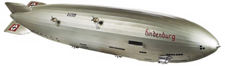 Hindenburg Zeppelin Model Picture