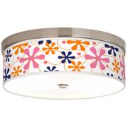 Retro Pink Giclee Energy Efficient Ceiling Light