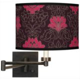 Dark Bronze Plug-In Swing Arm Wall Light