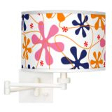 Matte White Plug-In Swing Arm Wall Light