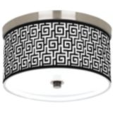 "Brushed Nickel Finish 10 1/4"" Wide Ceiling Light"