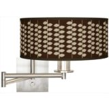 Brushed Steel Plug-In Swing Arm Wall Light