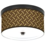 "Bronze Finish Energy Efficient 10 1/4"" Wide Ceiling Light"