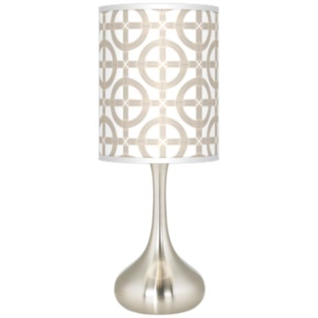 Tobi Fairley Bamboo Trellis Table Lamp
