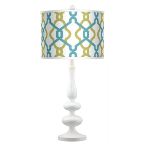 Hyper Links Giclee Kiss Table Lamp