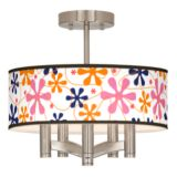 Ava 5-Light Nickel Ceiling Light