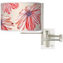 Ruby Floral Swing Arm Wall Light