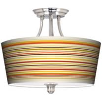 Lemongrass Drum Ceiling Light