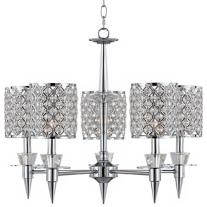 Chrome and Crystal Glitz Chandelier