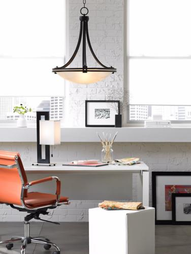 Urban loft office decor