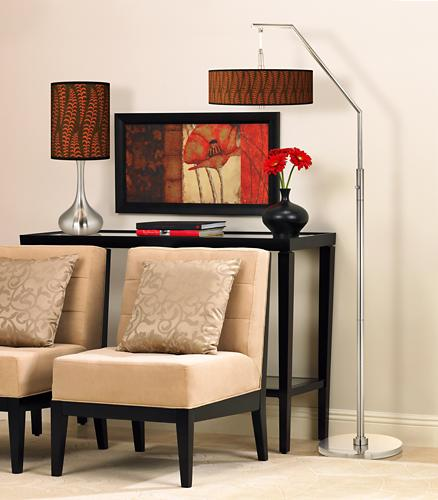 Contemporary living room giclee lamp picture.