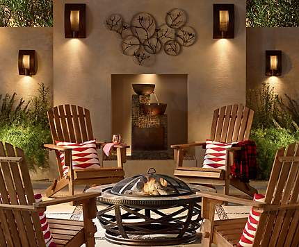 A Firepit And Adirondack Chairs Create The Perfect Setting For Conversation