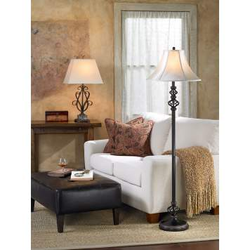 The addition of a white sofa gives the traditional living room an updated look.