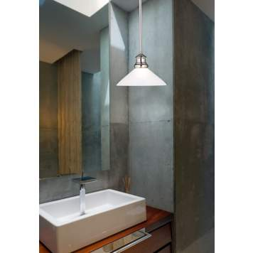 Concrete is a luxurious wall finish in this ultra-contemporary bathroom design.