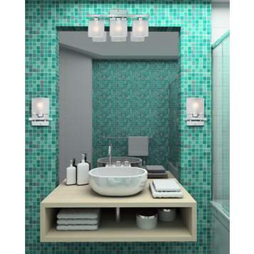 Rich teal is a beautiful color for bathroom decor.